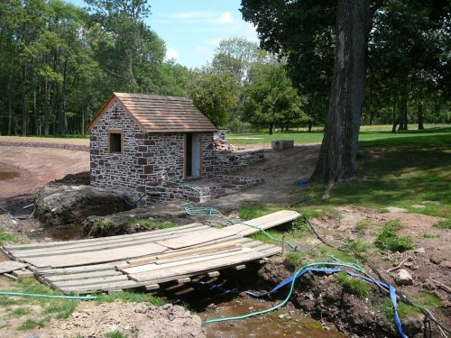 Arched Bridge, Stone Pond Surround, New Stone Struction